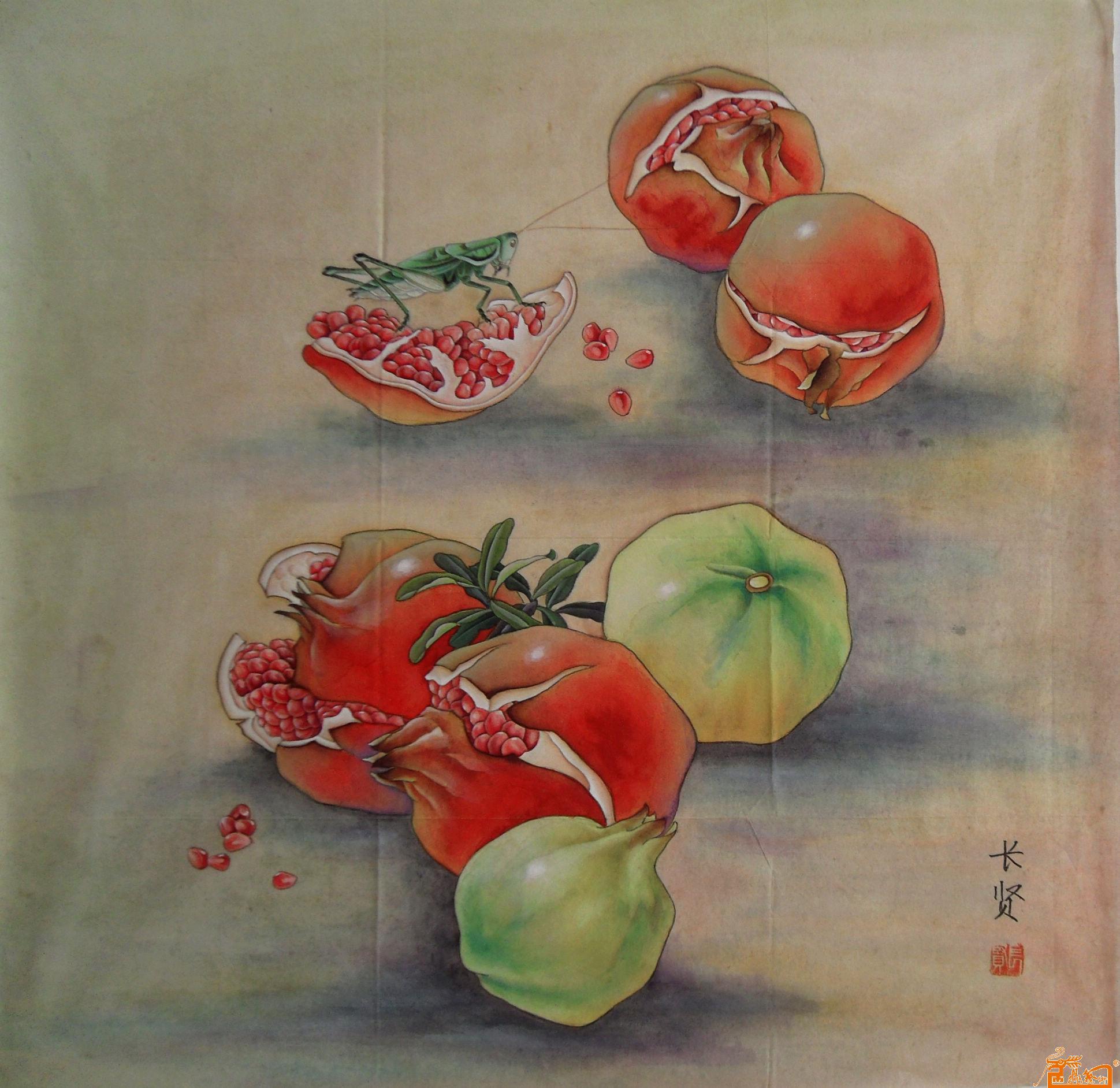 李长贤-石榴2-淘宝-名人字画-中国书画服务中心